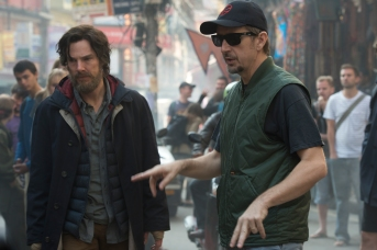 Marvel's DOCTOR STRANGE L to R: Benedict Cumberbatch (Doctor Stephen Strange) and Director Scott Derrickson on set. Photo Credit: Jay Maidment ©2016 Marvel. All Rights Reserved.