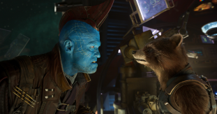 Michael Rooker and Bradley Cooper star in GUARDIANS OF THE GALAXY, VOL. 2