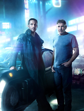 Ryan Gosling and Harrison Ford star in BLADE RUNNER 2049.