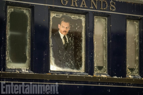 Johnny Depp in MURDER ON THE ORIENT EXPRESS.