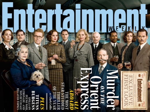 The Cast of MURDER ON THE ORIENT EXPRESS.