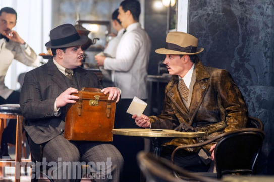 Josh Gad and Johnny Depp in MURDER ON THE ORIENT EXPRESS.