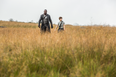 Idris Elba and Tom Taylor star in THE DARK TOWER.