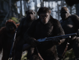 Caesar leads in WAR FOR THE PLANET OF THE APES