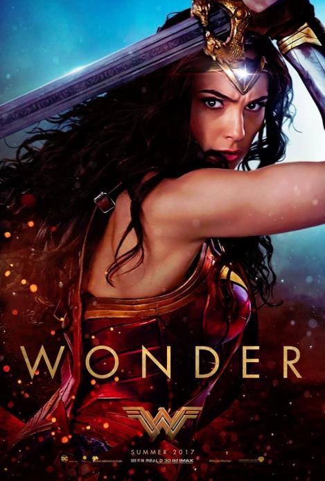 """Wonder Woman """"WONDER"""" One Sheet"""