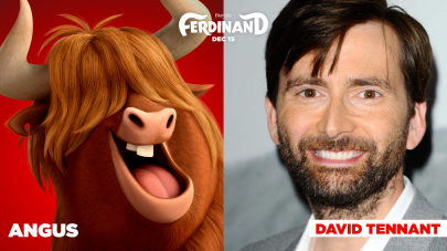 David Tennant is the voice of Angus in FERDINAND.