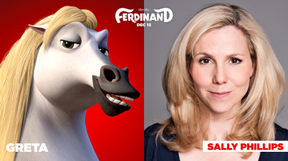 Sally Phillips is the voice of Greta in FERDINAND.