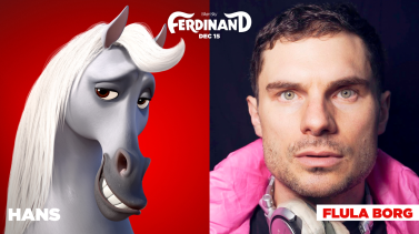 Flula Borg is the voice of Hans in FERDINAND.