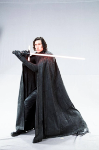 Adam Driver as Kylo Ren in STAR WARS: THE LAST JEDI.