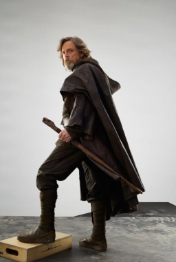 Mark Hamill as Luke Skywalker in STAR WARS: THE LAST JEDI.