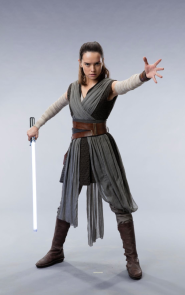 Daisy Ridley as Rey in STAR WARS: THE LAST JEDI.