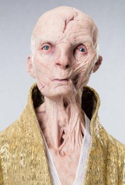 Supreme Leader Snoke in STAR WARS: THE LAST JEDI.