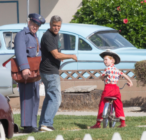 George Clooney directs on set of SUBURBICON.