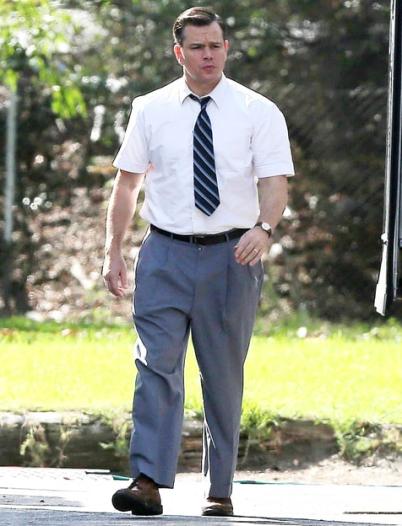 Matt Damon on set of SUBURBICON.