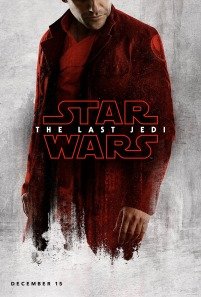 Poe Dameron character poster for STAR WARS: THE LAST JEDI.