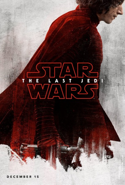 Kylo Ren character poster for STAR WARS: THE LAST JEDI.