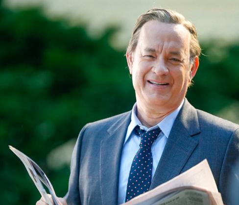 Tom Hanks as Washington Post editor Bill Bradlee, on set of THE PAPERS.