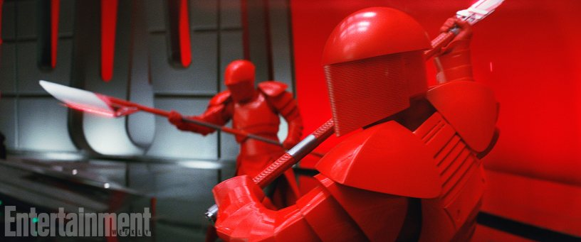 Snoke's Praetorian Guards in STAR WARS: THE LAST JEDI.
