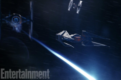 Kylo Ren's Tie Silencer in STAR WARS: THE LAST JEDI.