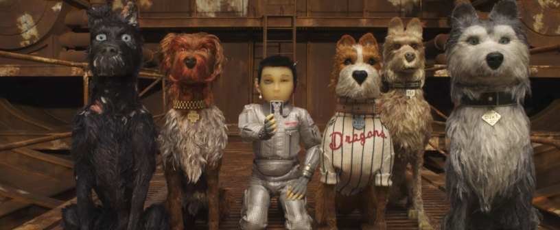 A boy searches for his pet on the ISLE OF DOGS.