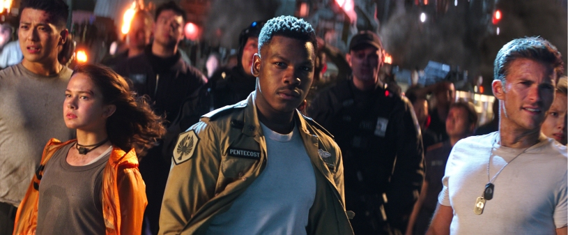 John Boyega and Scott Eastwood star in PACIFIC RIM: UPRISING.